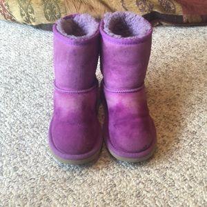 Ugg magenta purple classic short sheepskin boot 12
